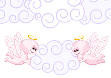 Pink baby angels Royalty Free Stock Photos