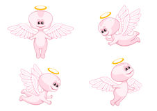 Pink baby angels Stock Image