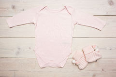 Pink baby apparel royalty free stock photography