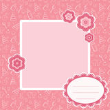 Pink baby background. Royalty Free Stock Images