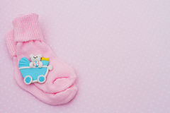 Pink Baby Background Stock Photo