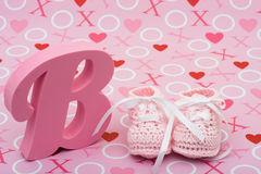 Pink Baby Booties Stock Photography