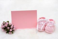 Pink Baby Booties Stock Photos