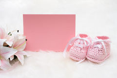 Pink Baby Booties Royalty Free Stock Photos