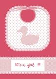 Pink baby card Stock Photos