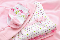 Pink Baby Clothes Royalty Free Stock Image
