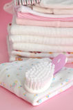 Pink Baby Clothes Royalty Free Stock Photos