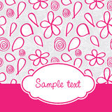 Pink baby cover with seamless pattern Royalty Free Stock Photos