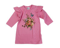 Pink baby dress, isolate on a white Royalty Free Stock Photography