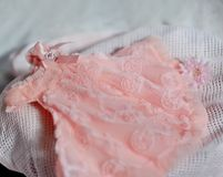 Pink baby dress Royalty Free Stock Photography