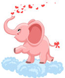 Pink baby elephant Royalty Free Stock Photography