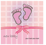 Pink baby foot Royalty Free Stock Images