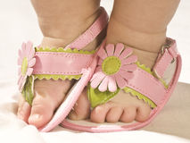 Pink baby foot Royalty Free Stock Image