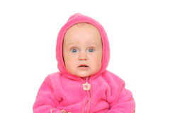 Pink baby girl Royalty Free Stock Images