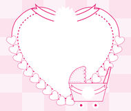 Pink baby girl frame background Stock Image
