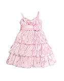 Pink baby holiday dress isolated on white background Royalty Free Stock Photo
