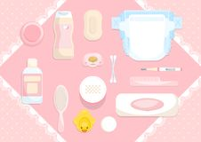 Pink baby item Stock Photography