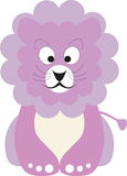 Pink baby lion. Vector illustration of a pink baby lion Royalty Free Stock Photos