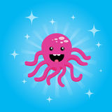Pink baby octopus Stock Photography