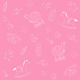 Pink baby pattern Stock Photo