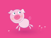 Pink baby pig Royalty Free Stock Photography