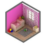 Pink baby room Royalty Free Stock Image