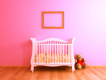 Pink baby room stock images