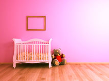Pink baby room royalty free stock photo