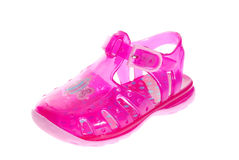 Pink baby's sandal Royalty Free Stock Photos