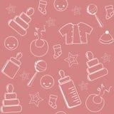 Pink baby seamless. Stock Photos