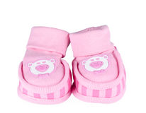 Pink baby shoes Royalty Free Stock Photography