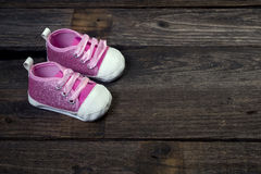 Pink Baby Shoes. Stock Photos