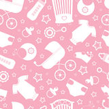 Pink baby shower background Stock Image