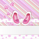 Pink baby shower card Stock Photo