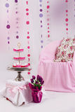 Pink baby shower decor Royalty Free Stock Photography
