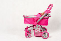 Pink baby stroller for play Royalty Free Stock Image