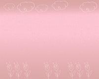 Pink background. With colours and clouds stock illustration