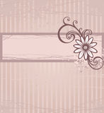 Pink background. Grunge monochrome card with flower and drop Stock Photo