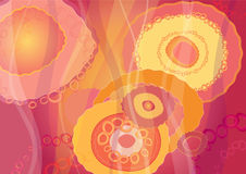 Pink background,. Pink background with big and small circle, illustration Royalty Free Stock Photo