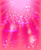 Pink background. Circles ,stars and lights on the pink background Stock Images