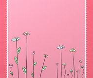 Pink background. Two tone pink background with flowers vector illustration