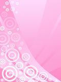 Pink background. Illustration of  waves and bubbles  on pink background Stock Images