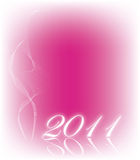 Pink background 2011 Royalty Free Stock Photo