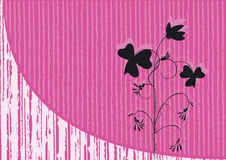 Pink background. With shade of flower Royalty Free Stock Photos