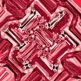 Abstract pink background with angled square blocks and diamond shaped random pattern in wine and grenadine colors stock illustration