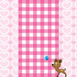 Pink background baby dear. Stock Images