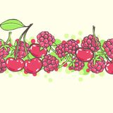 Pink background with berries Stock Image