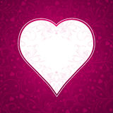 Pink background with big heart Royalty Free Stock Image