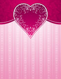 Pink background with big heart Royalty Free Stock Photography
