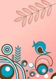 Pink background with bird Stock Photos